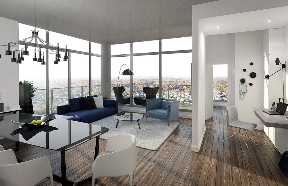 salon condo vendre blainville laurentides - Maison Moderne Blainville