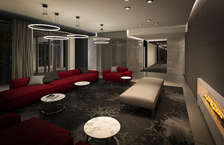 Lobby - real estate project - condo, townhouse, penthouse for sale