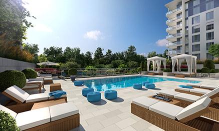 Piscine - projet immobilier - condo, maison de ville, penthouse à vendre